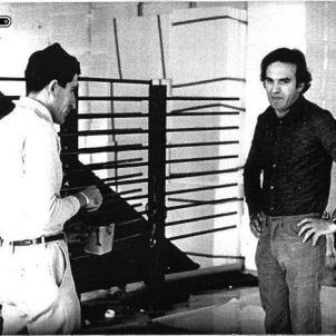 Renato Volpini with Valerio Adami