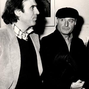 Renato Volpini with Mimmo Rotella
