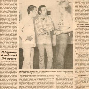 Renato Volpini with Miss Italy 1969